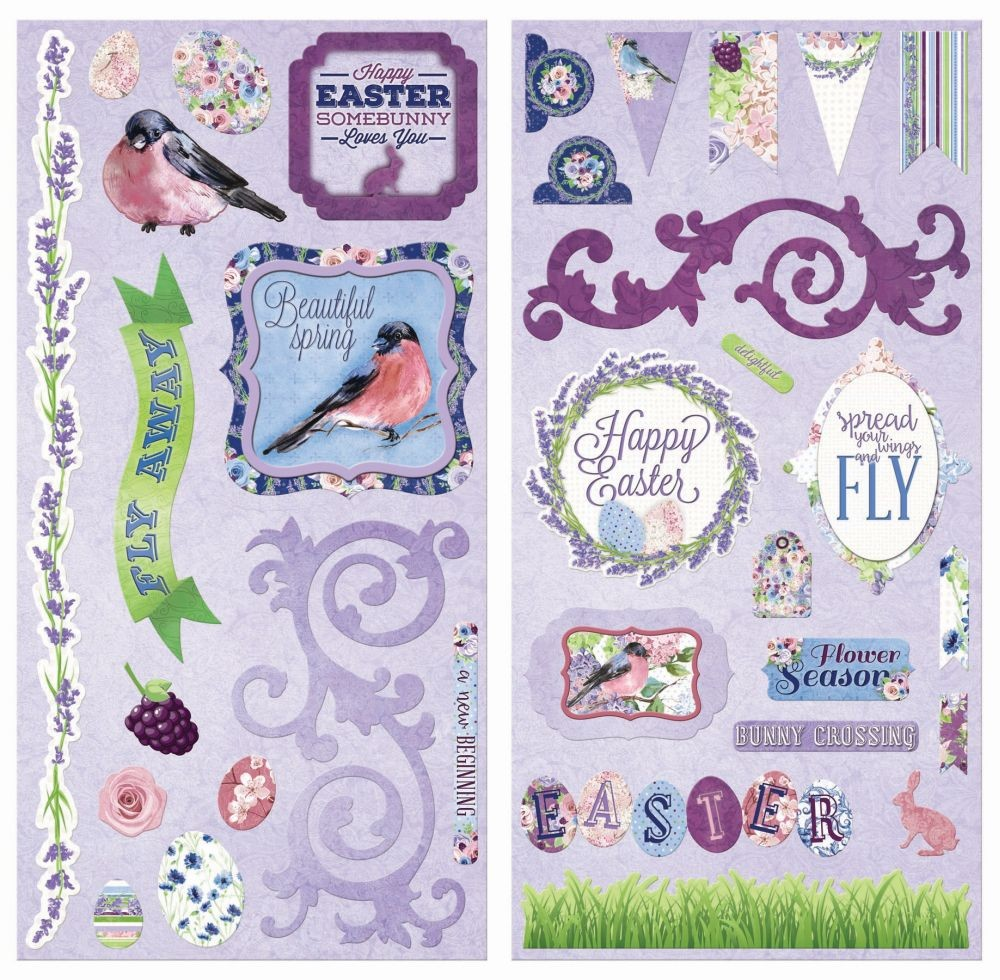 Bo Bunny Secret Garden Chipboard