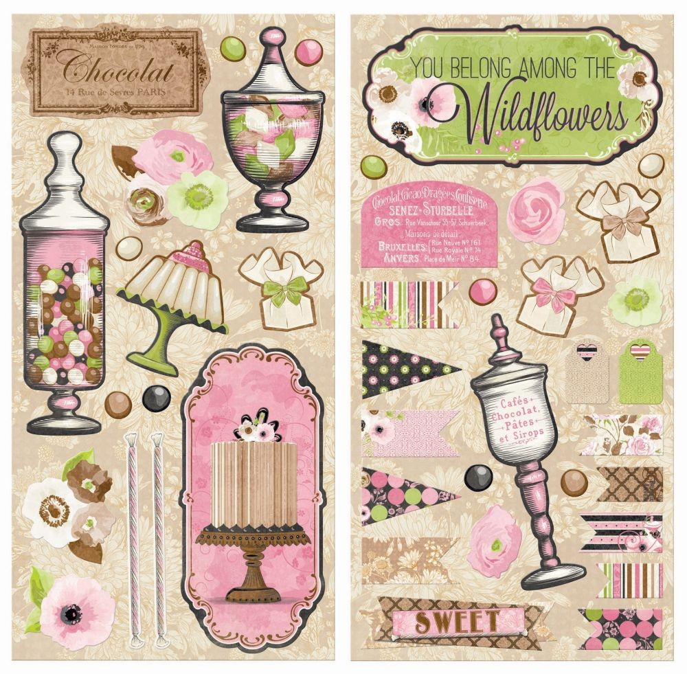 Bo Bunny Sweet Moments Chipboard