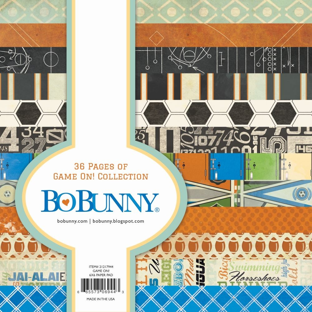 Bo Bunny Game On! 6x6 Page Pads