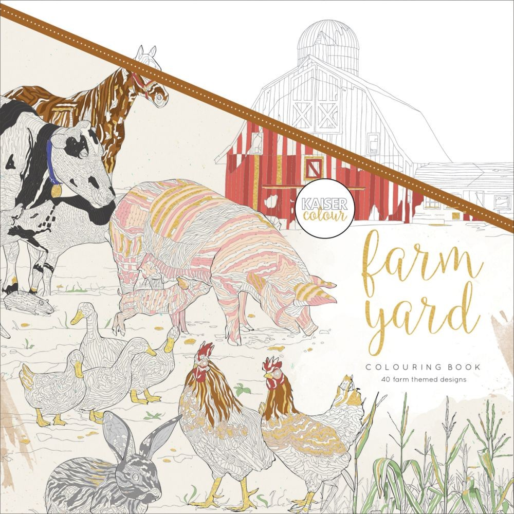 KaiserCraft Kaisercolour Perfect Bound Coloring Book - Farmyard