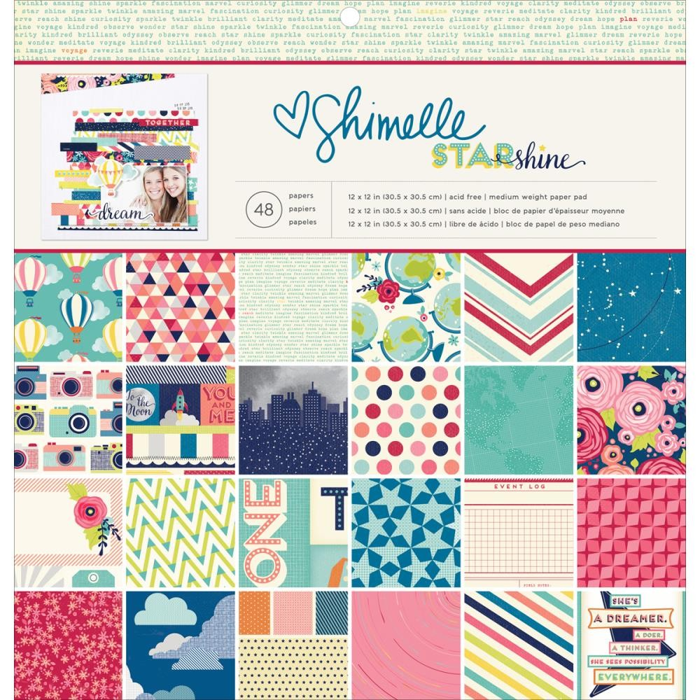 American Crafts Shimelle Starshine Single Sided 12 x 12 Paper Pad