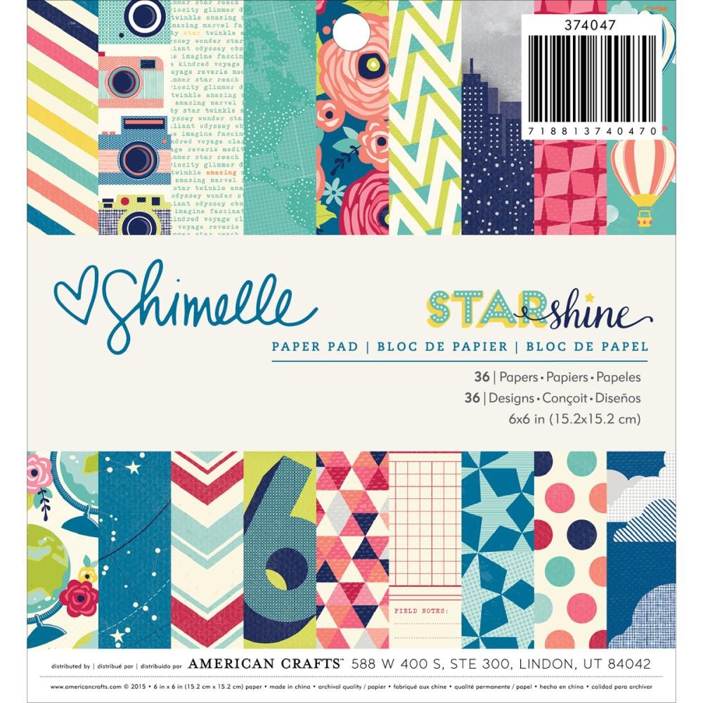 American Crafts Shimelle Starshine 6x6 Paper Pad