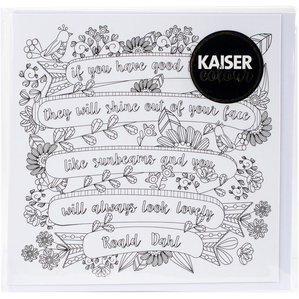 "KaiserCraft Kaisercolour Gift Card W/envelope 6""x6""-Sunbeams"