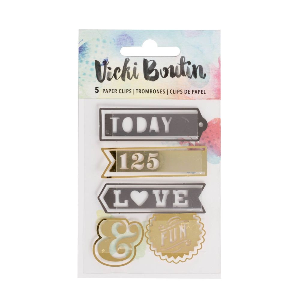 American Crafts Vicki Boutin Mixed Media - Word Paperclips - (5 Piece)