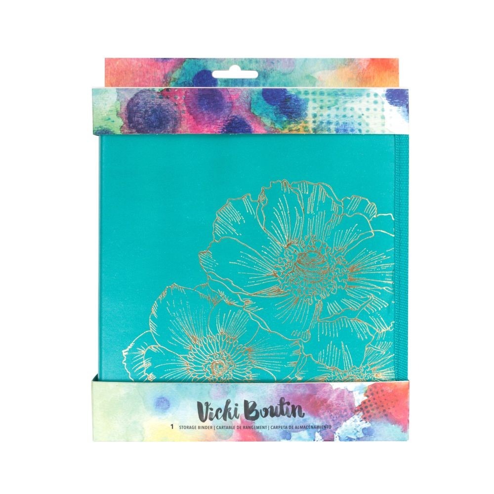 American Crafts Vicki Boutin Mixed Media - Storage Binder - Gold Foil