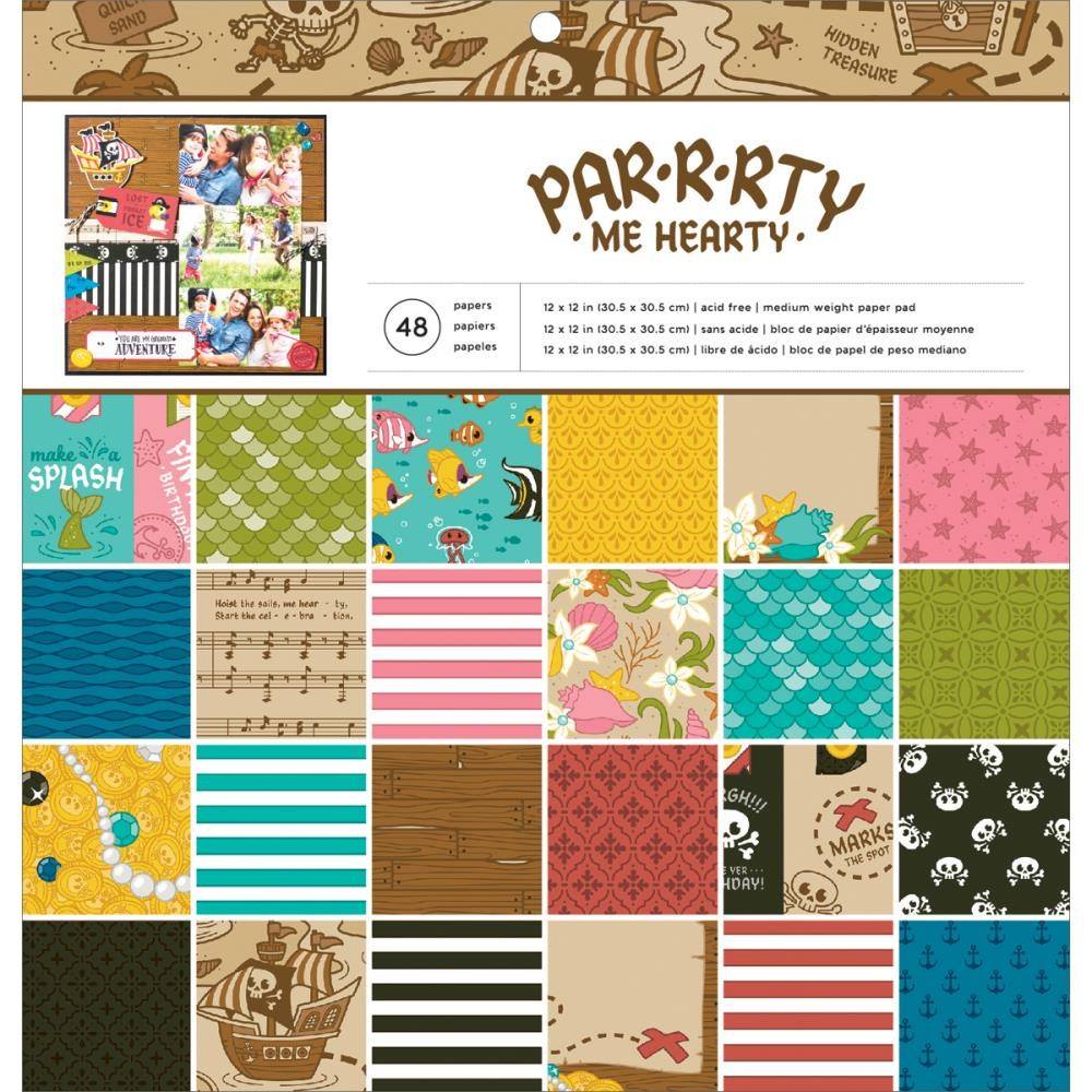 American Crafts Par-R-Rty Me Hearty 12x12 Paper Pad