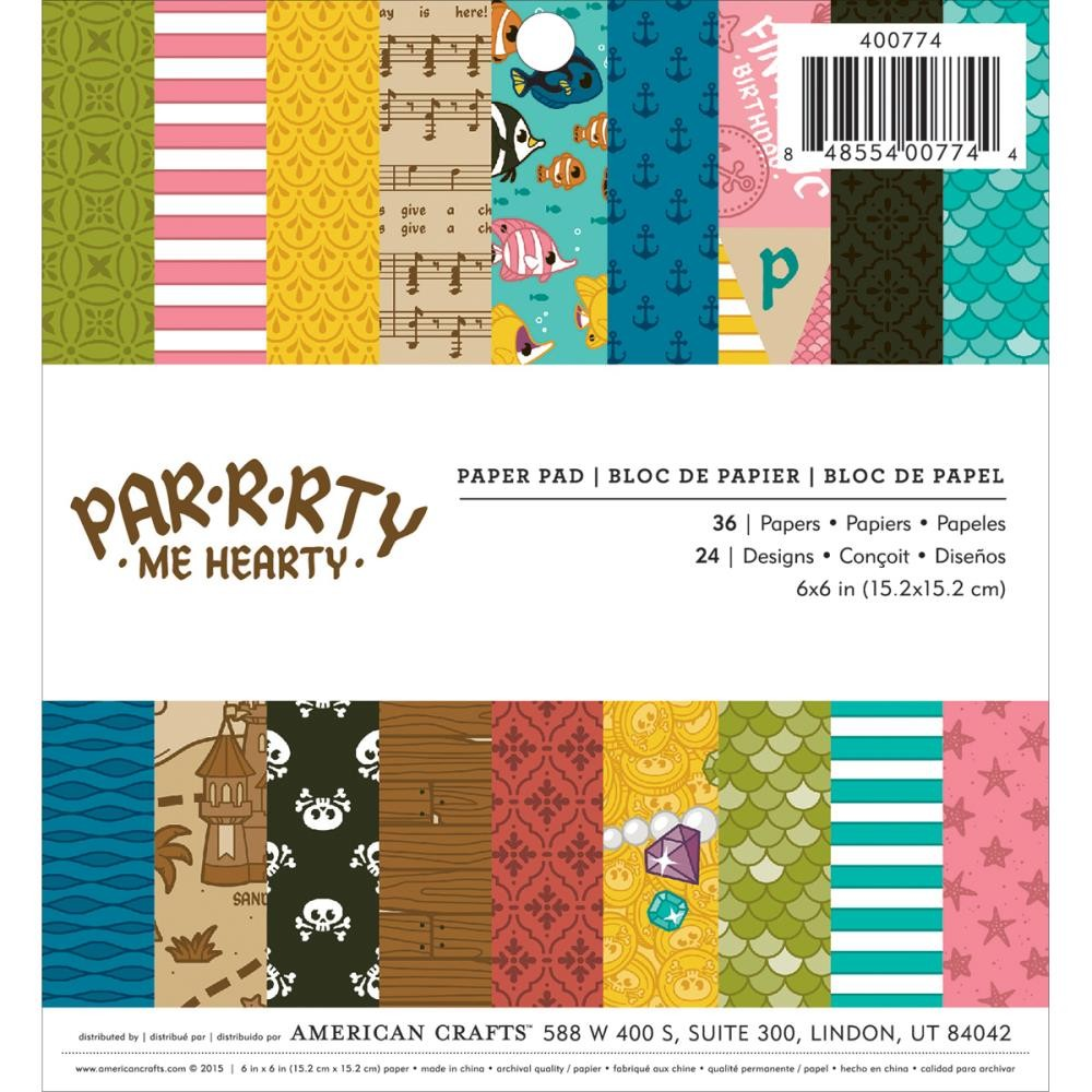 American Crafts Par-R-Rty Me Hearty 6x6 Paper Pad