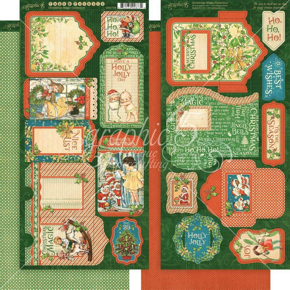Graphic 45 Christmas Magic Tags & Pockets