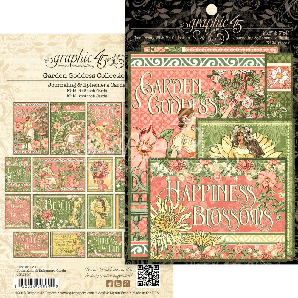 Graphic 45 Garden Goddess Ephemera