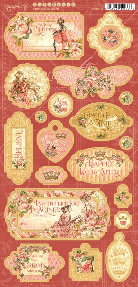 Graphic 45 Princess Chipboard