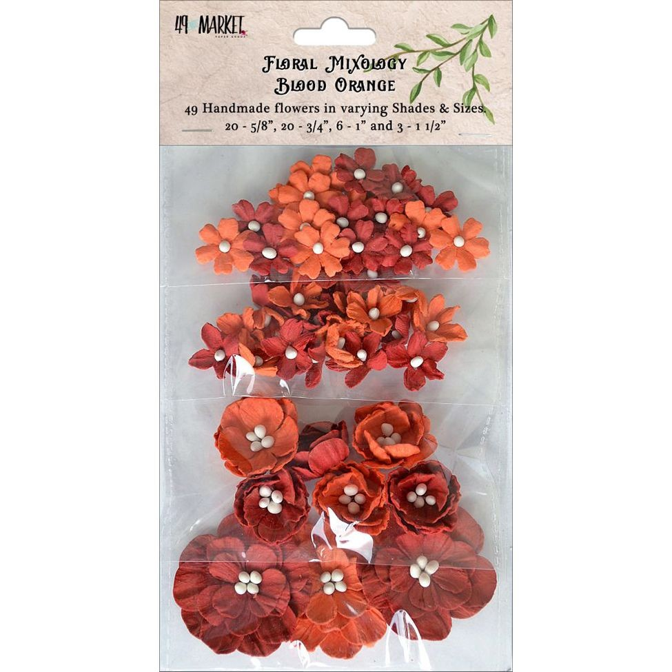 49 and Market Floral Mixology Paper Flowers - Blood Orange