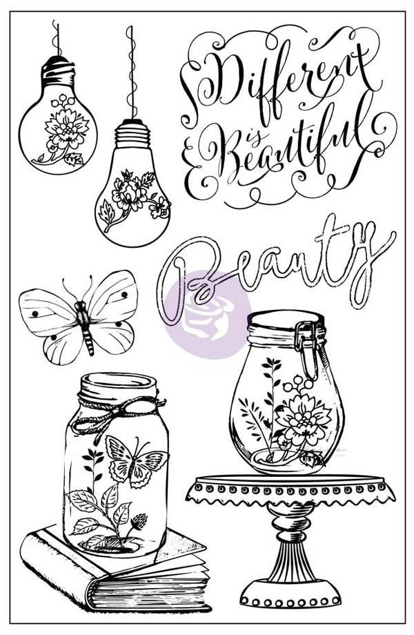 Prima Marketing 4x6 Cling Stamp-Salvage District