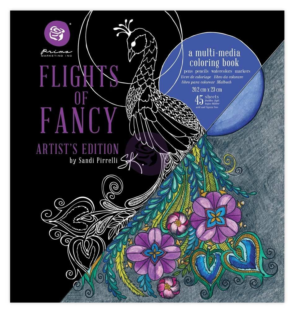 Prima Marketing Sandi Pirrelli Coloring Book - Flights of Fancy