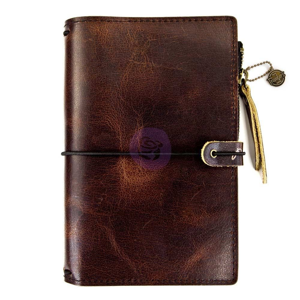 Prima Marketing Prima Traveler's Journal Leather Essential - Mocha Brown