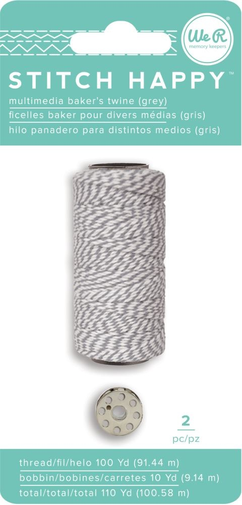 We R Memory Keepers Stitch Happy Specialty Thread - Baker's Twine - Gray (2 Piece)