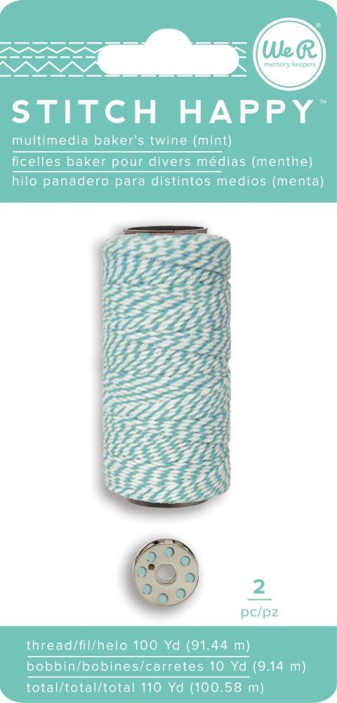 We R Memory Keepers Stitch Happy Specialty Thread - Baker's Twine - Mint (2 Piece)