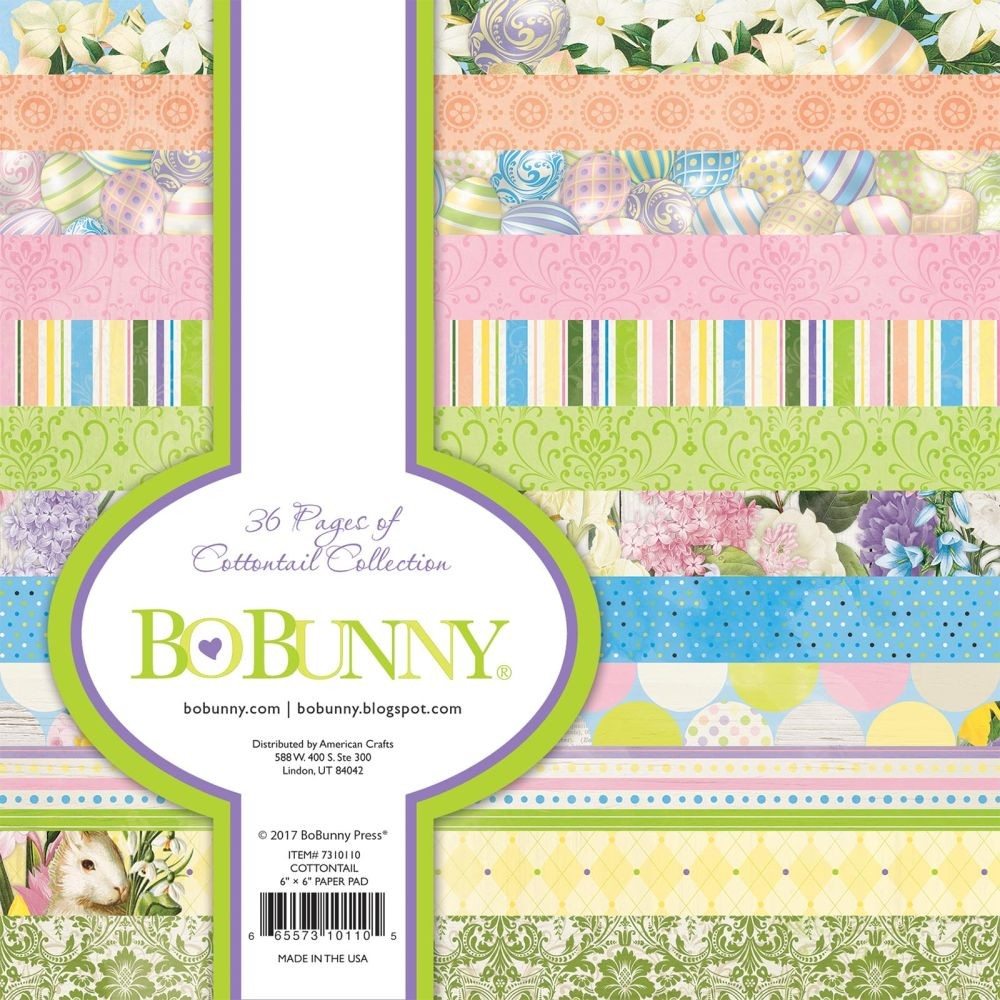 Bo Bunny Cottontail 6x6 Pad (36 sheets)