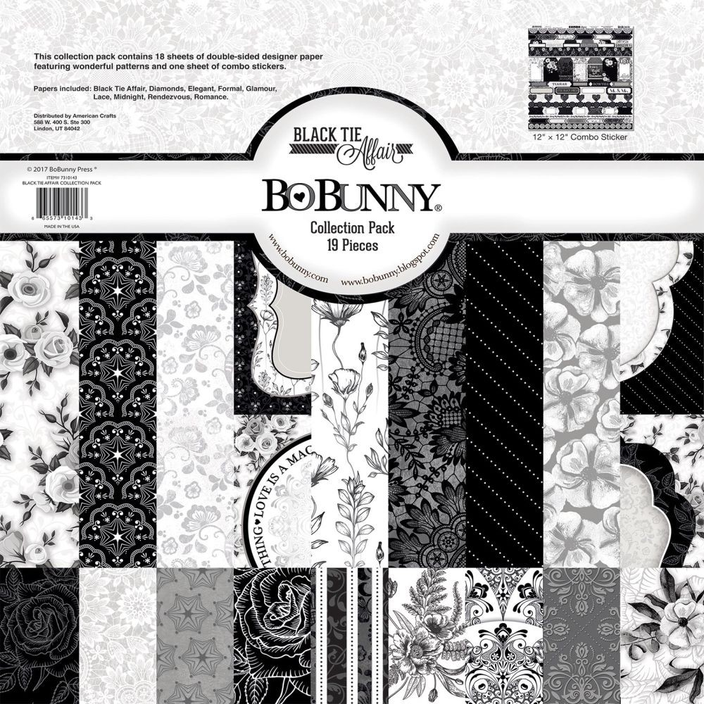 Bo Bunny Black Tie Affair - Collection Pack - 12x12