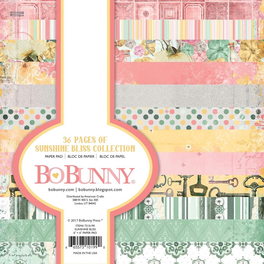 Bo Bunny Sunshine Bliss - 6x6  Paper Pad- 36 Sheets