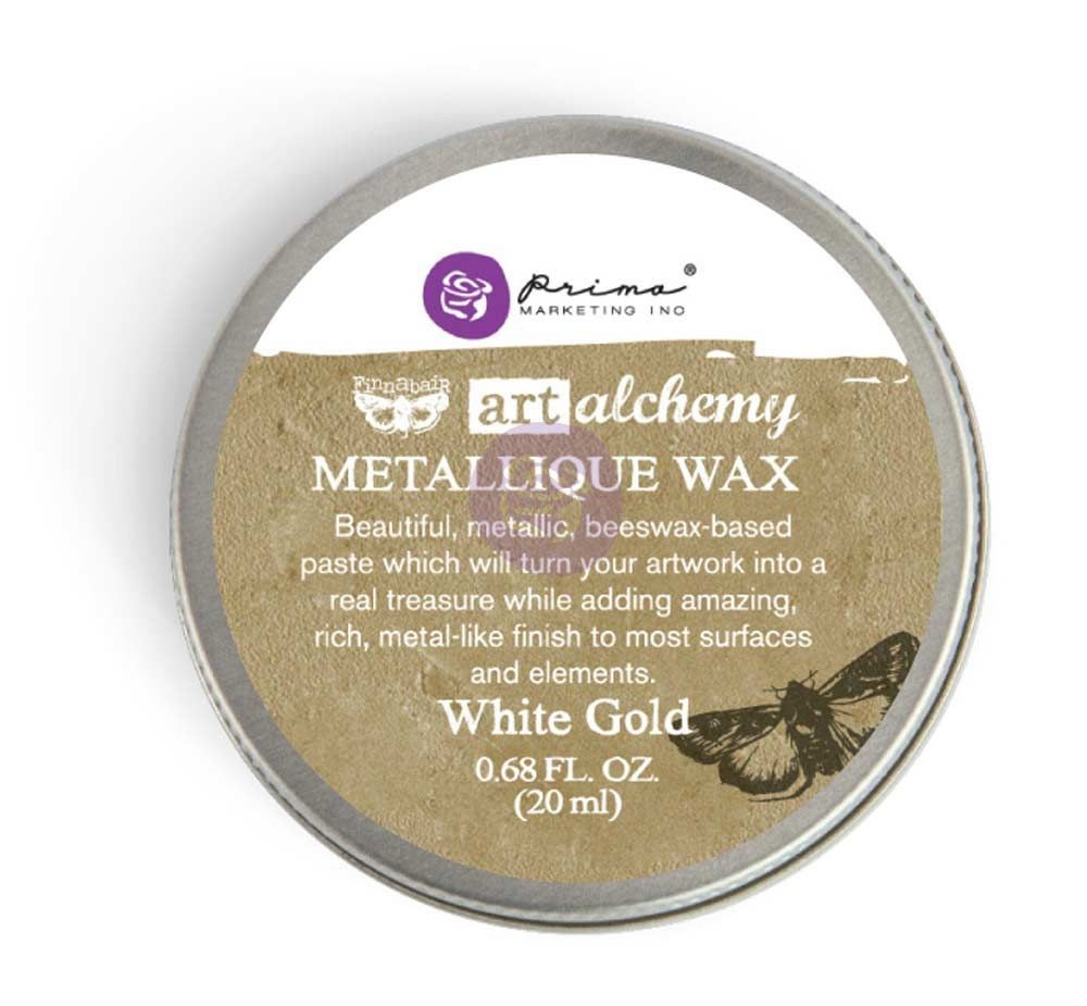 Prima Marketing Art Alchemy-Metallique Wax-White Gold