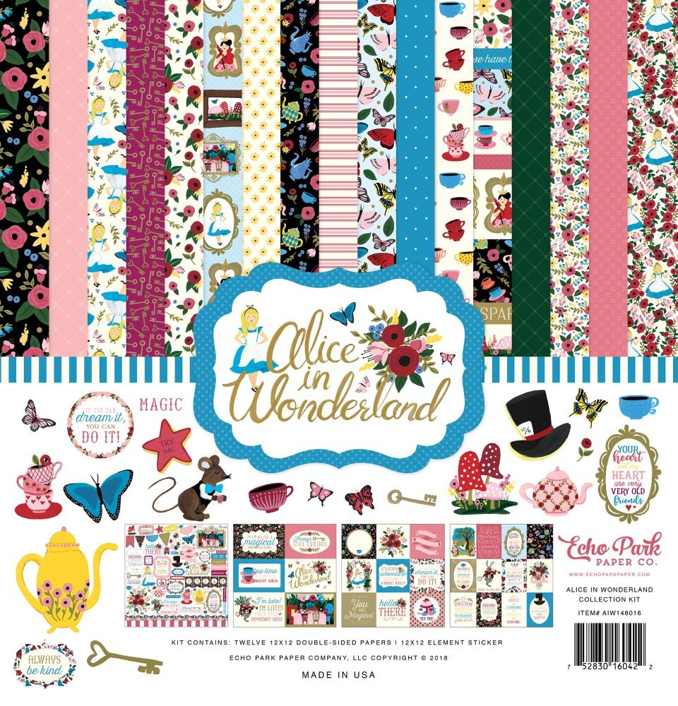 Alice In Wonderland 12x12 Collection Kit By Echo Park Paper For