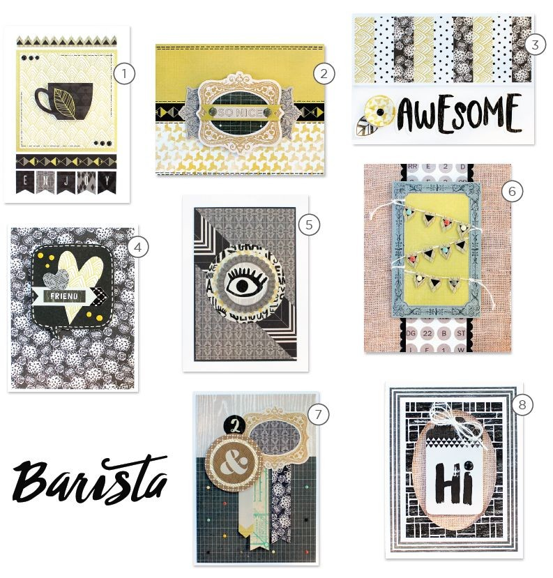 Basic Grey Card of the Month -September 2015 featuring Barista