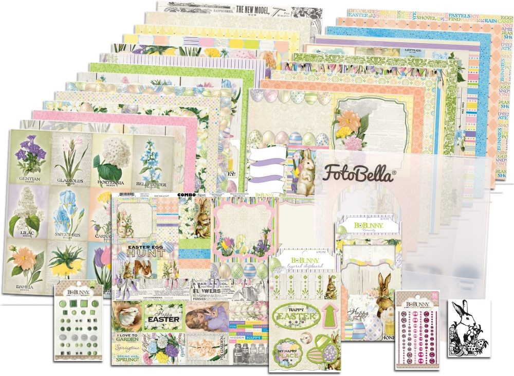 Bo Bunny Cottontail I Want It All! 12x12 Collection Bundle