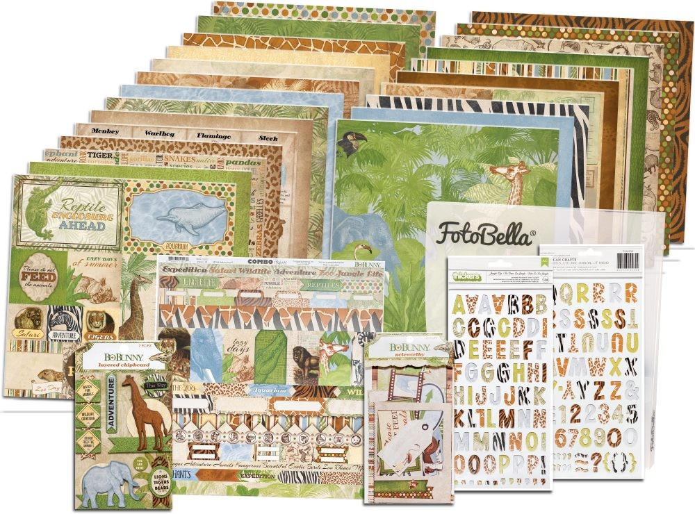 Bo Bunny Jungle Life I Want It All! 12x12 Collection Bundle
