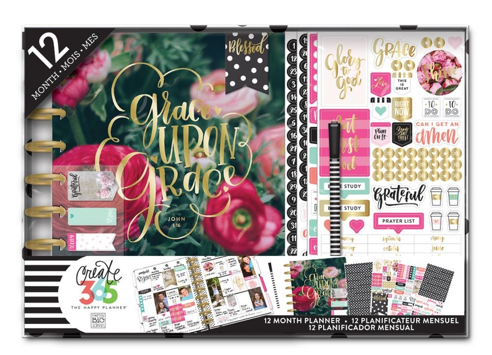 Me & My Big Ideas Create 365 Classic Happy Planner Box Kit - Have Faith Planner with Disc Binding