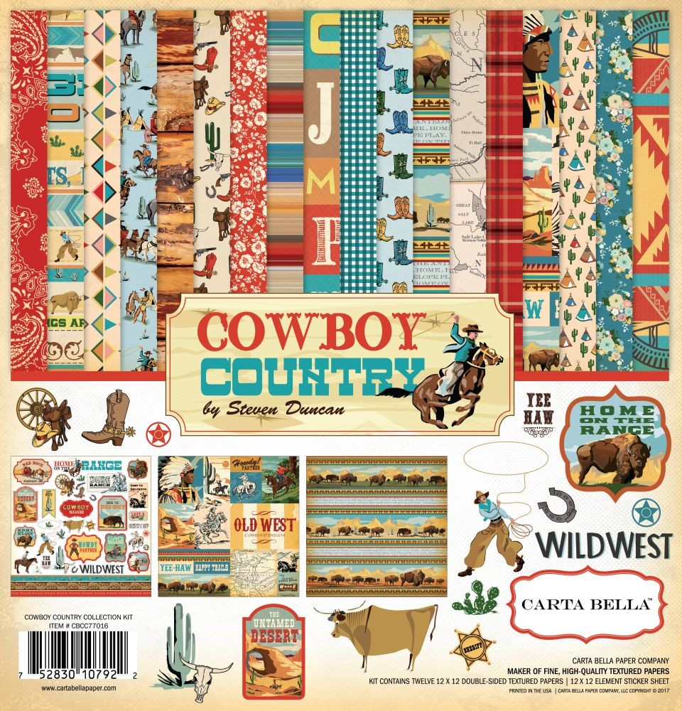 Carta Bella Cowboy Country 12x12 Collection Kit