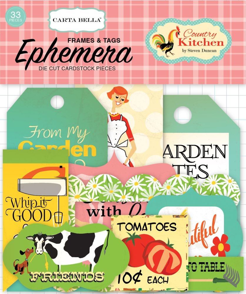Carta Bella Country Kitchen Frames & Tags Ephemera