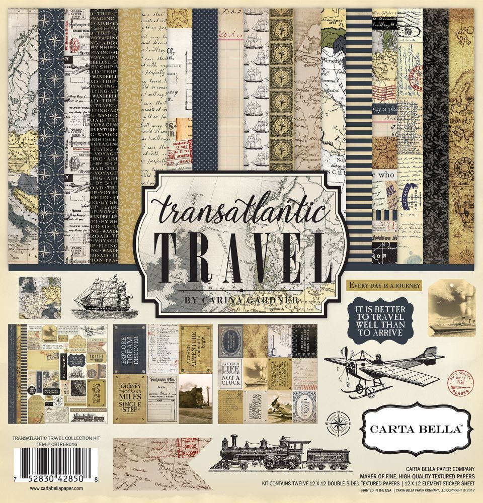 Carta Bella Transatlantic Travel 12x12 Collection Kit