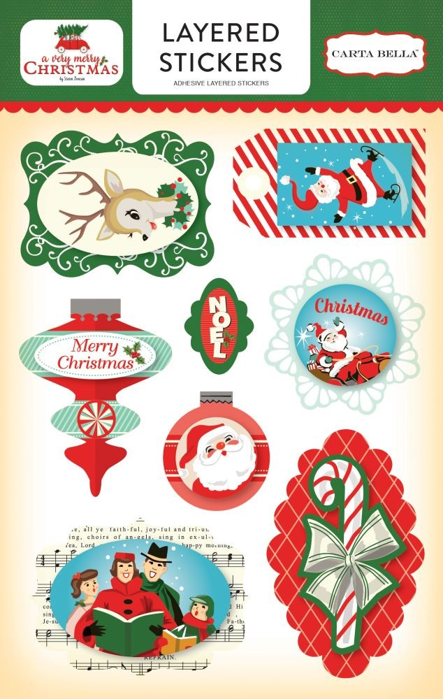 Carta Bella A Very Merry Christmas Layered Stickers