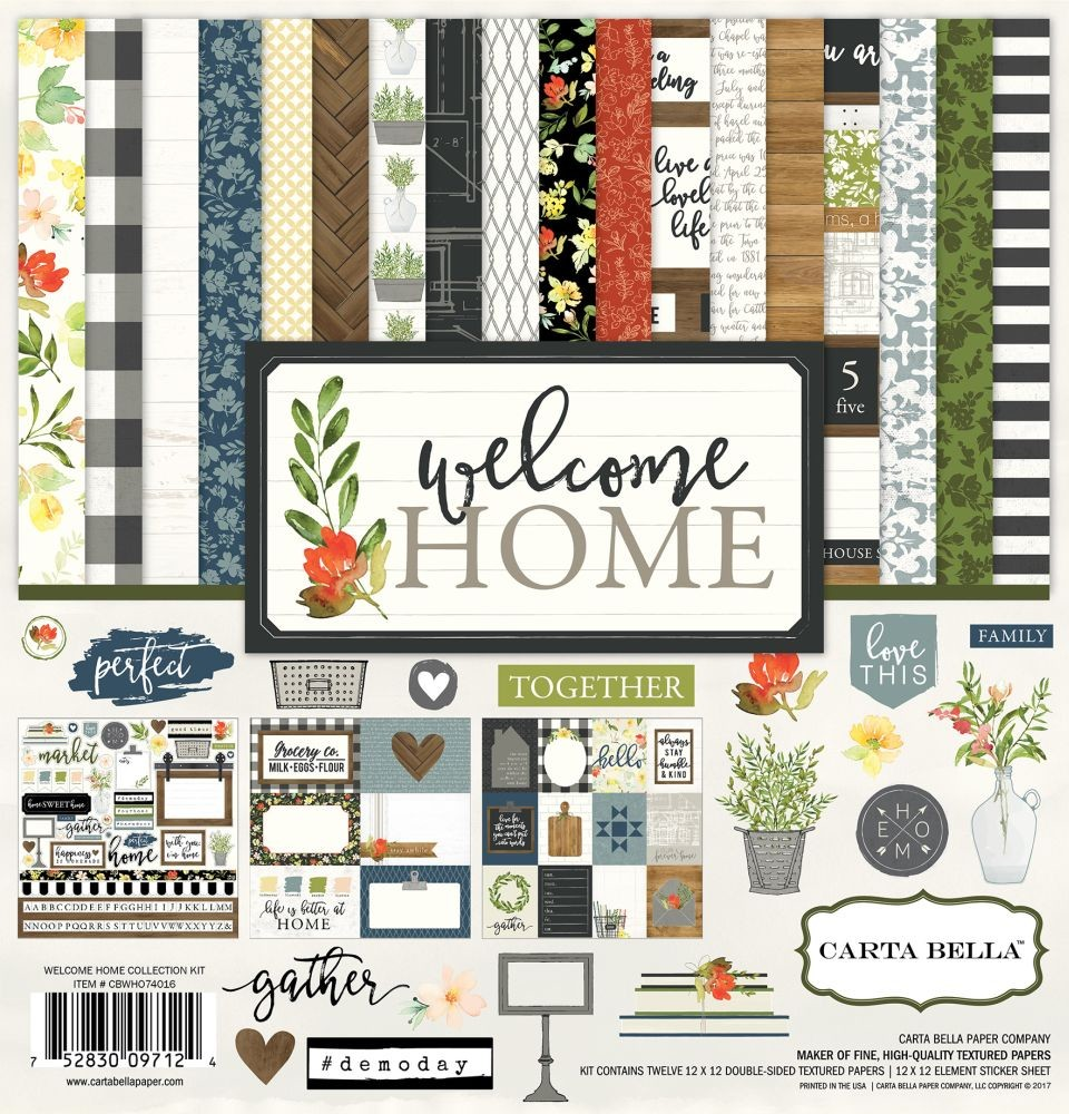 Carta Bella Welcome Home 12x12 Collection Kit