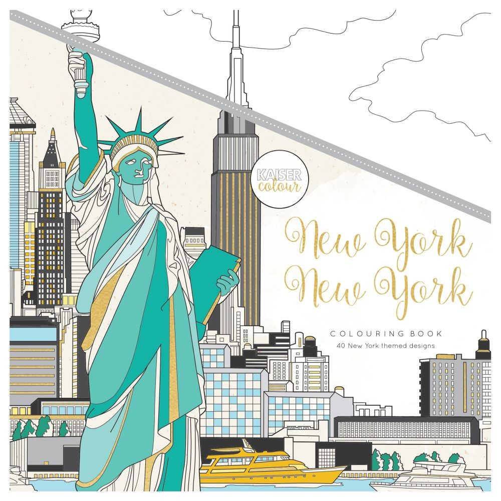 Kaisercolour Perfect Bound Coloring Book 975x975 New York By KaiserCraft For Scrapbooks Cards Crafting