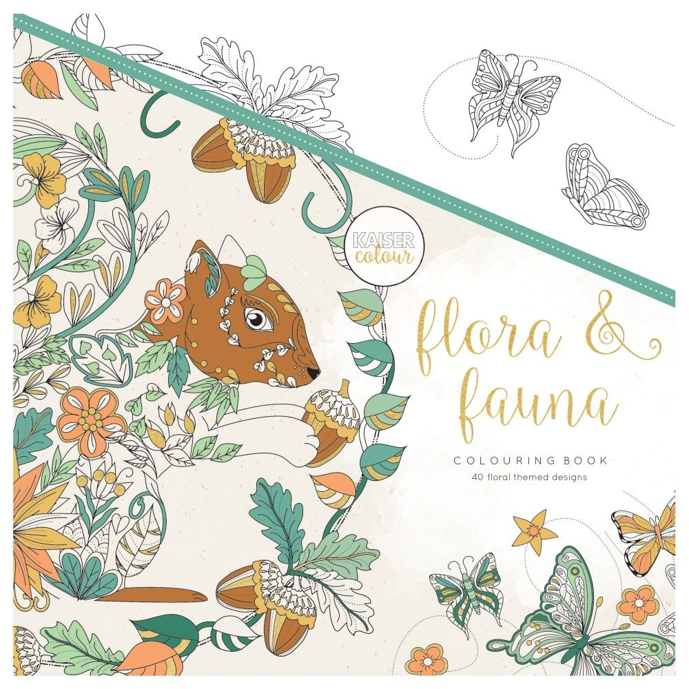 "KaiserCraft Kaisercolour Perfect Bound Coloring Book 9.75""x9.75""- Flora & Fauna"