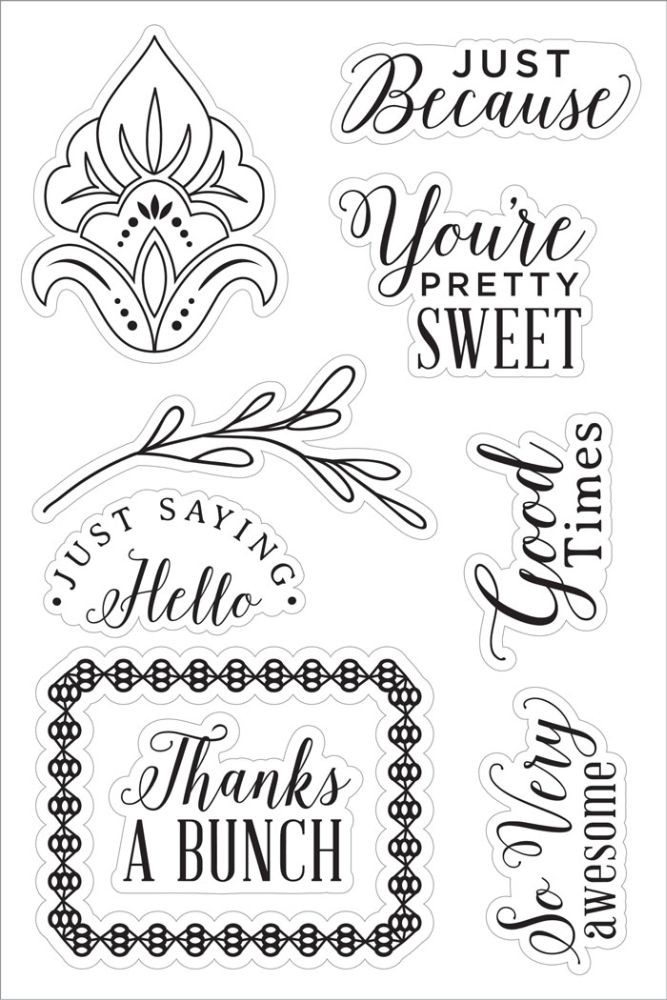 Basic Grey You're Pretty Sweet Clear Stamp - Tea Garden Collection