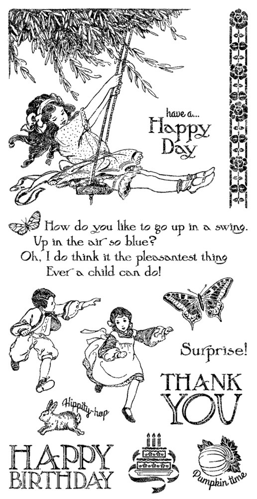 Graphic 45 Children's Hour Cling Stamp Set 2