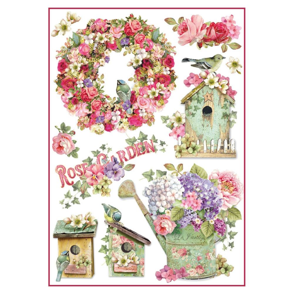 Stamperia A4 Decoupage Rice Paper Packed Rose Garden