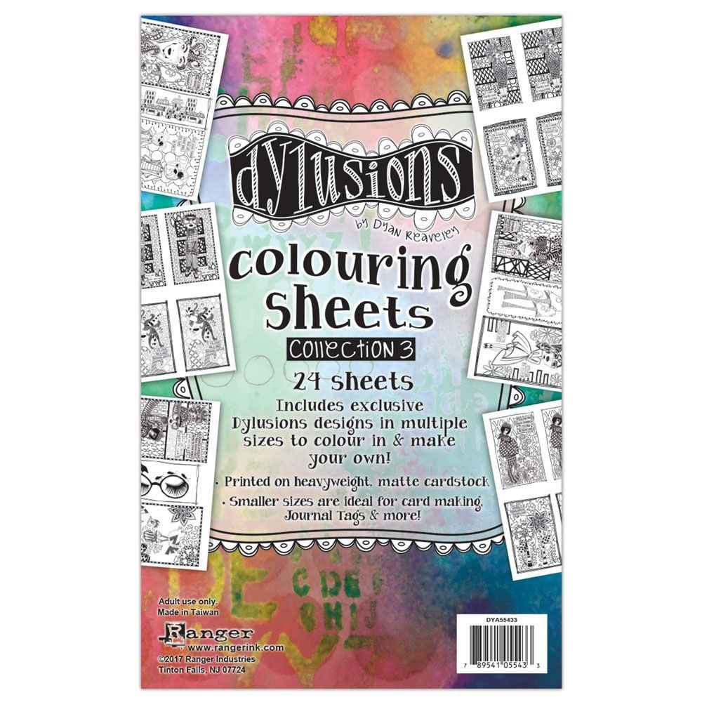 Ranger Dylusions Colouring Sheets #3