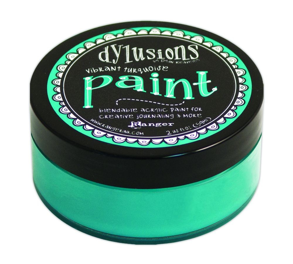 Ranger Dyan Reaveley's Dylusions Paint 2oz - Vibrant Turquoise