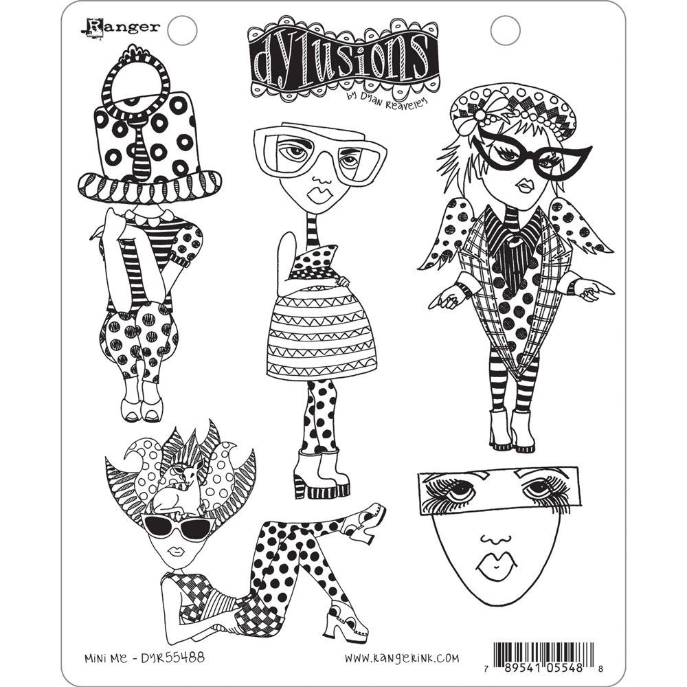 Ranger Dyan Reaveley's Dylusions Stamp Collection - Mini Me