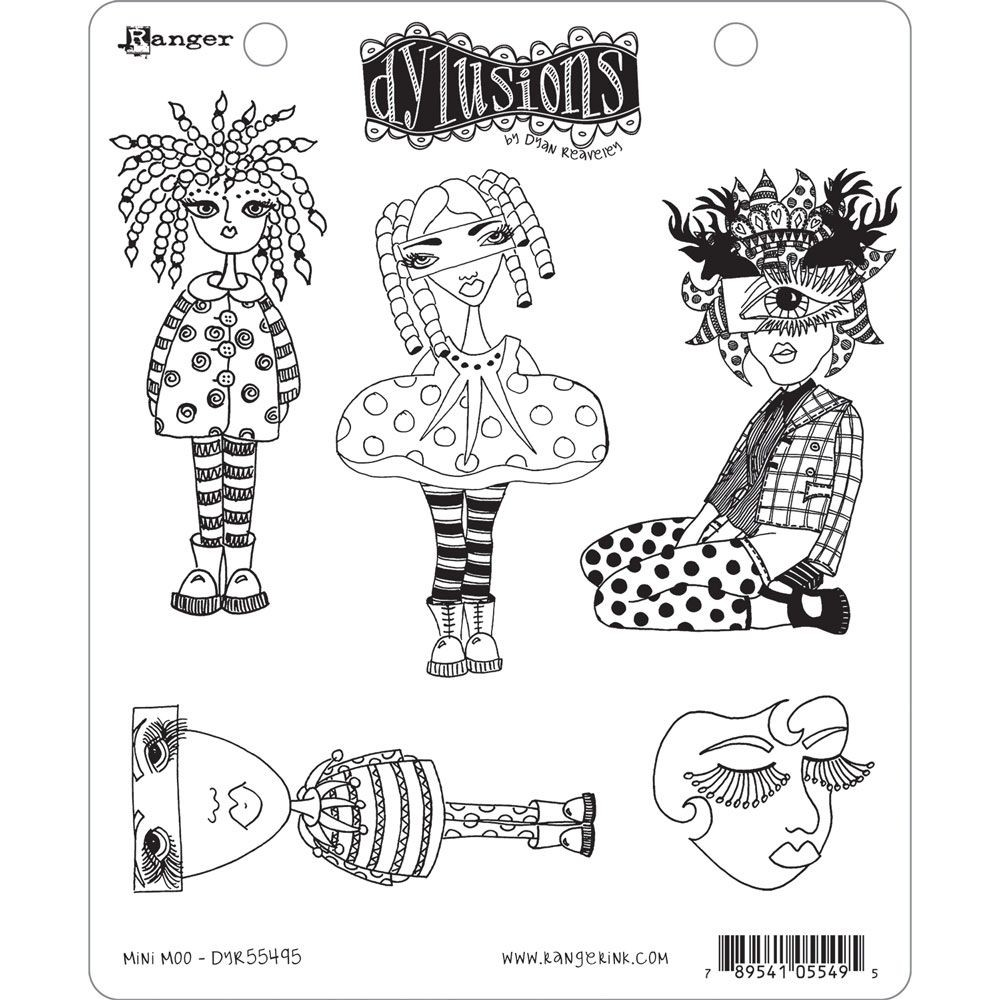 Ranger Dyan Reaveley's Dylusions Stamp Collection - Mini Moo