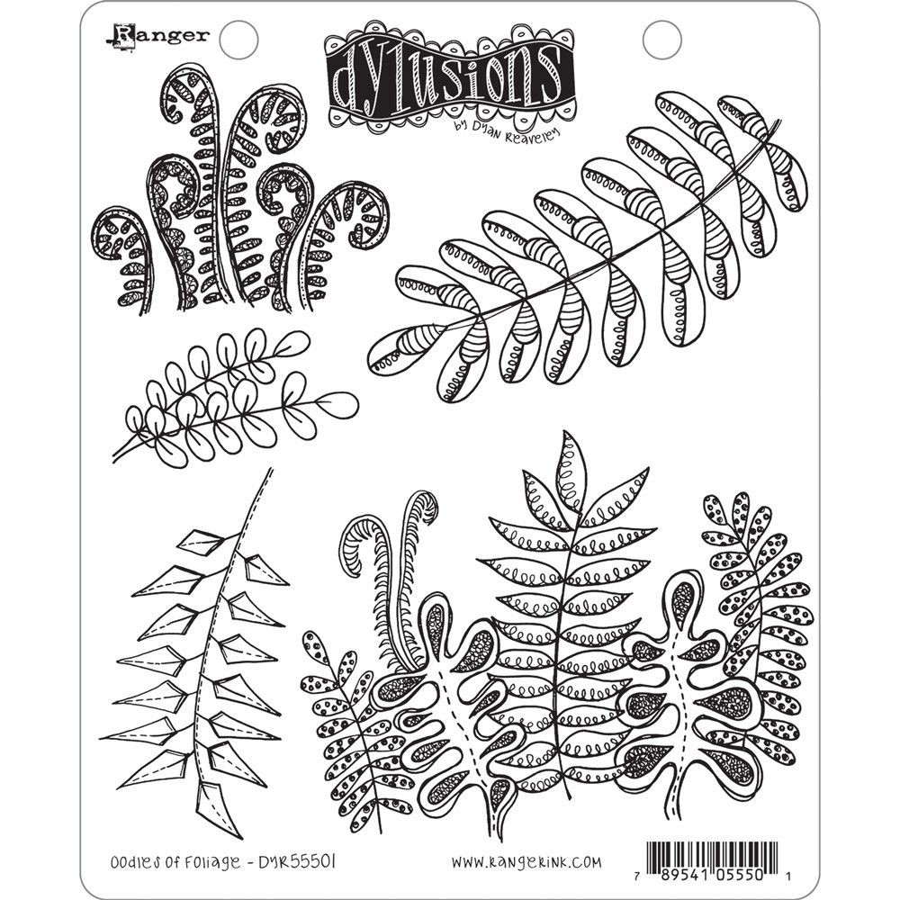 Ranger Dyan Reaveley's Dylusions Stamp Collection - Oodles of Foliage