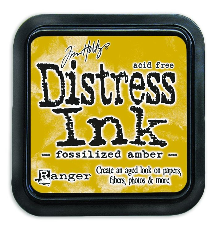 Fossilized Amber Distress Ink Pad by Ranger - Tim Holtz Distress Ink April Color Of The Month