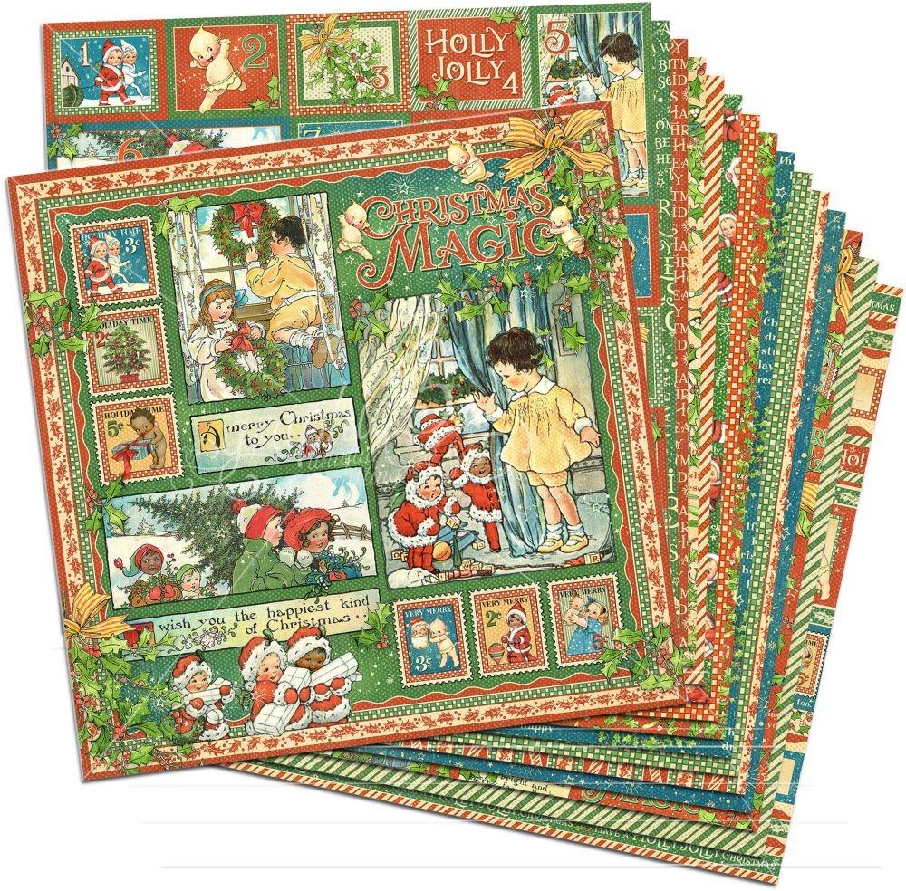Christmas Magic 12x12 Paper Pack (16 sheets) by Graphic 45 for ...