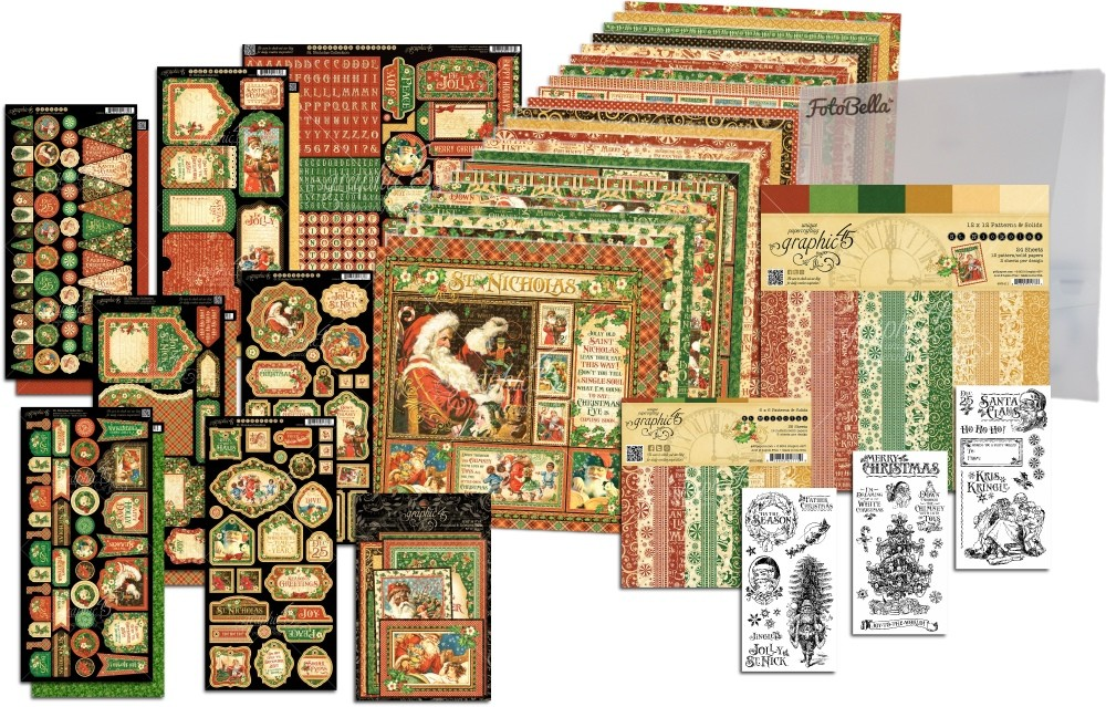 Graphic 45 St Nicholas 12x12 I Want It All Bundle (does not include 8x8)