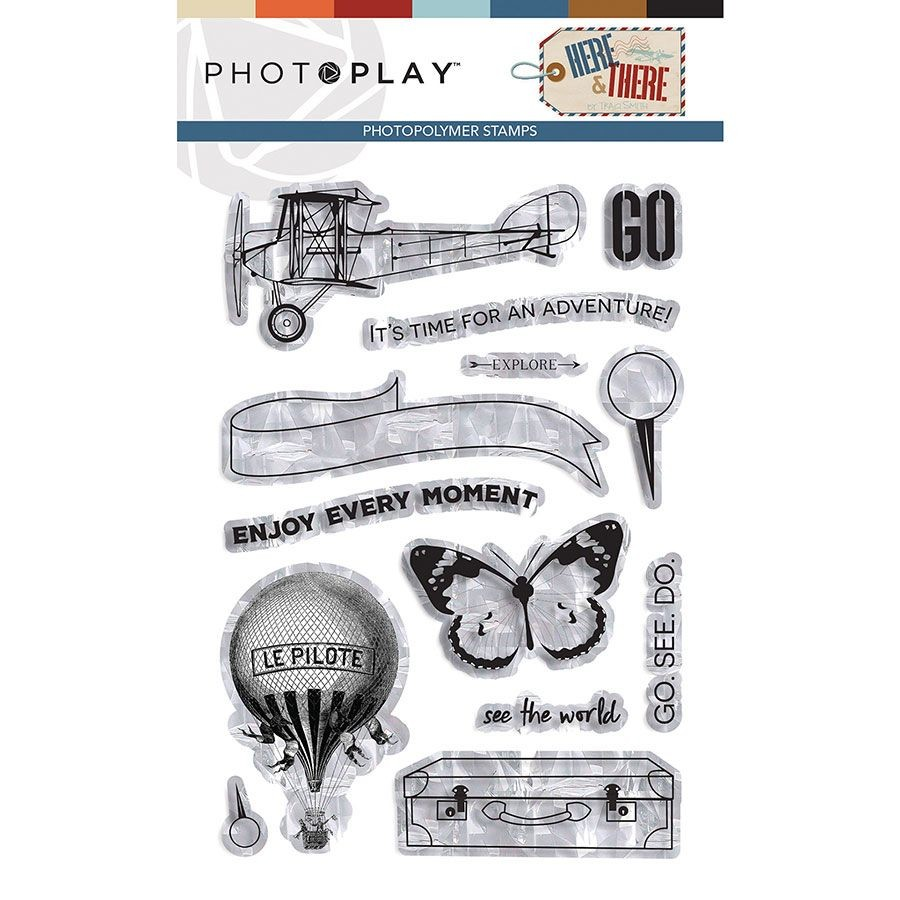 PhotoPlay Here & There Stamp Element