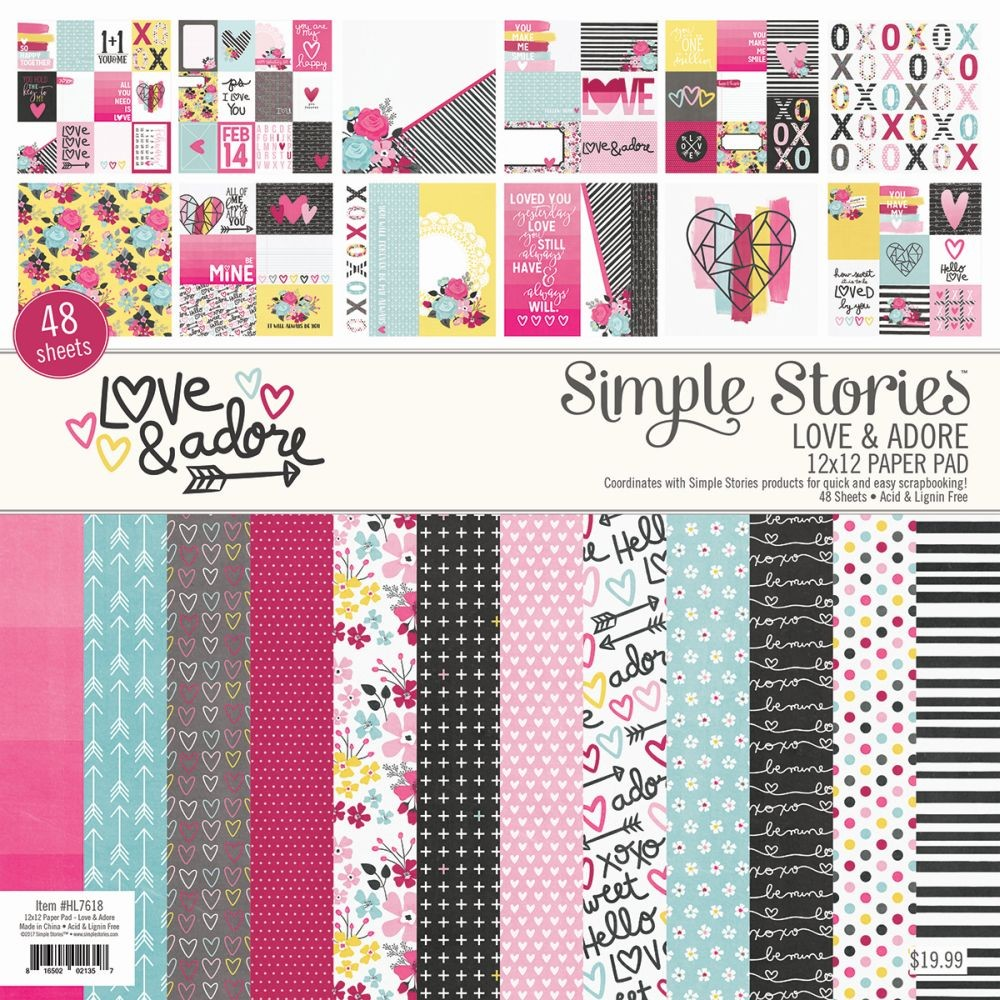 Simple Stories Love & Adore 12 x 12 Pad