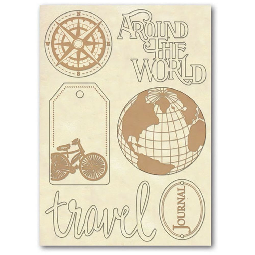 "Stamperia Wooden frame f.to A5 ""Around the world"""